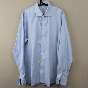 Eton Contemporary Blue Button Up Dress Shirt M286